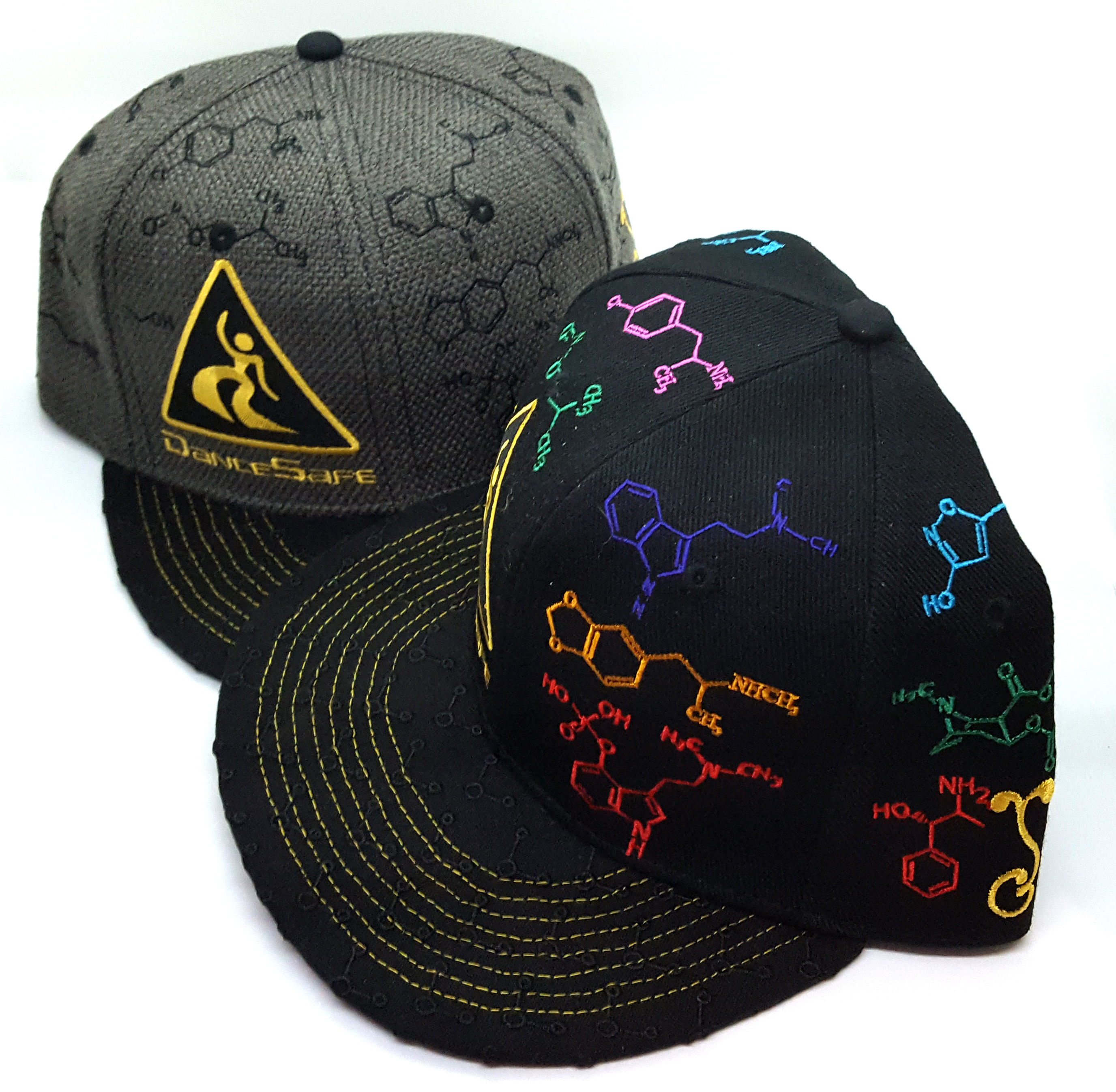 fd397562a6d Grassroots California (GRC) Molecule Hat – Black and Grey Variants – Fitted