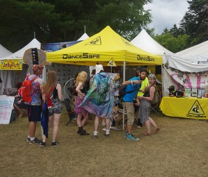 The DanceSafe booth pre-shut down at Electric Forest 2015