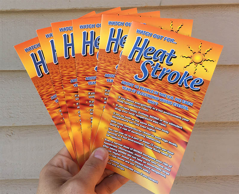 heat stroke pamphlets 100 three fold brochures