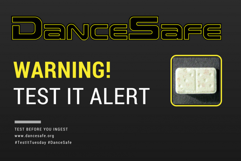 August 1st #TestItTuesday Alert: Domino Tablet Sold As MDMA Tests as Caffeine, Methamphetamine, and MDA