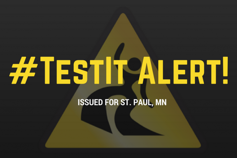 #TestIt Alert Issued for St. Paul, MN