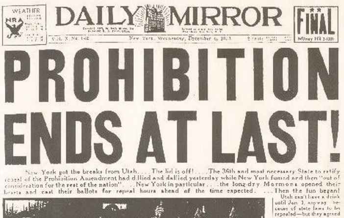 Prohibition Lessons from 83 Years Ago Today