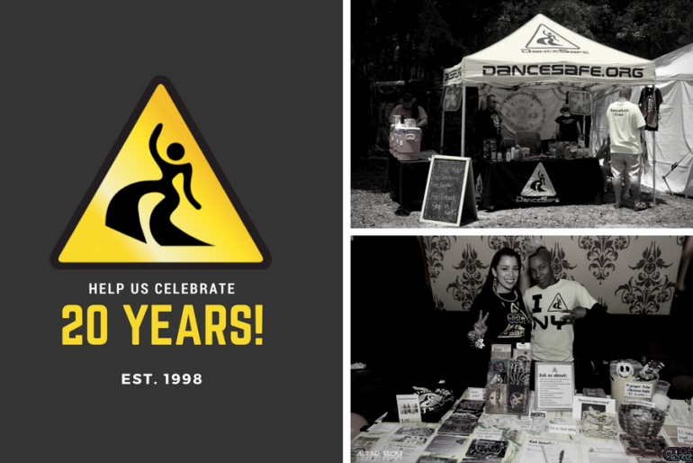 Help DanceSafe Celebrate 20 Years of Outreach by Donating Your Birthday