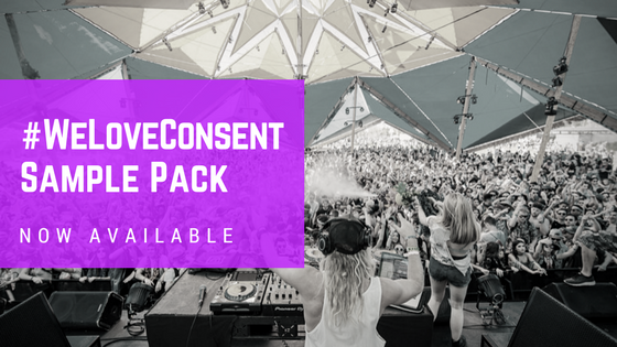 Sounds for Support – Announcing the #WeLoveConsent Sample Pack!