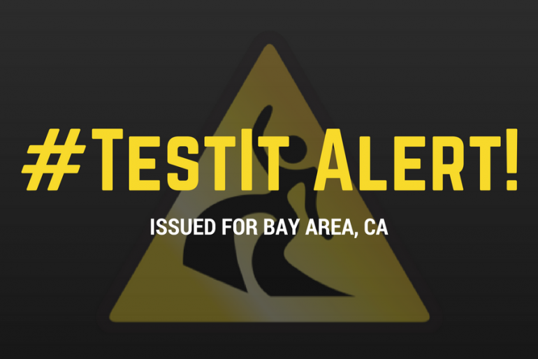 #TestIt Alert issued for the Bay Area, CA