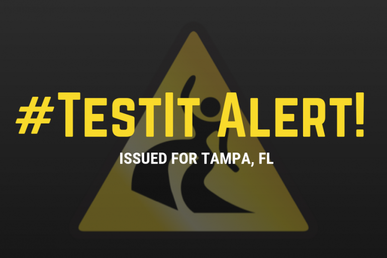 #TestIt Alert: White circular tablet with multicolored speckles sold in Tampa, FL as MDMA but actually contains exclusively caffeine and methamphetamine