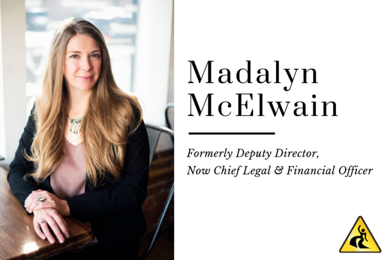 Former Deputy Director, Madalyn McElwain, is Now Chief Legal & Financial Officer